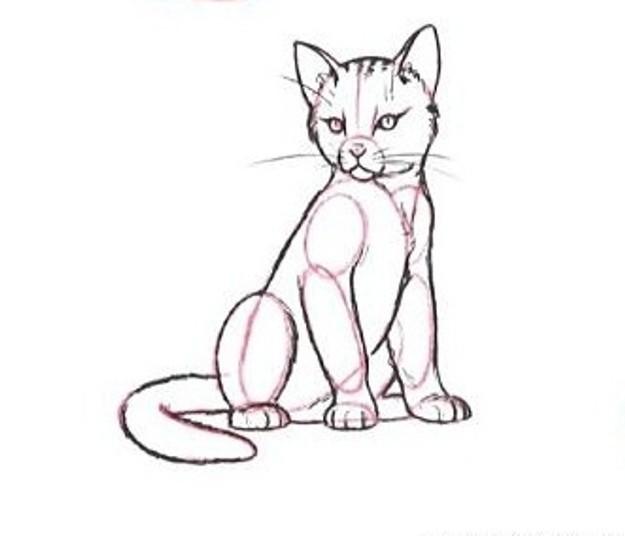 Рисуем кота с человеком