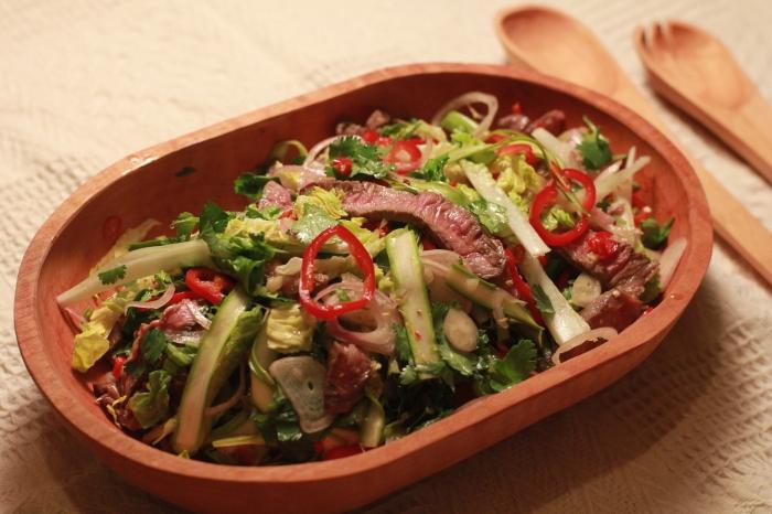 Салат охотничий с говядиной без майонеза рецепт с