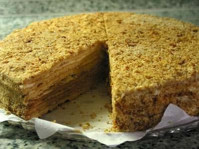 honey cake with condensed milk