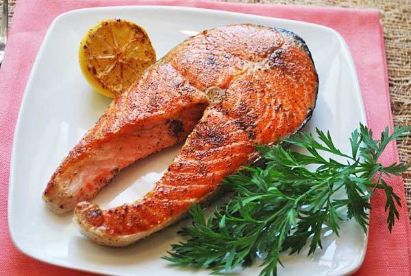 Стейк красной рыбы рецепт фото
