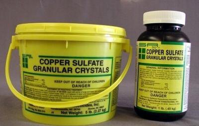 copper sulfate application