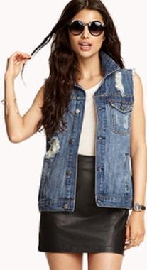 джинсовая жилетка из куртки