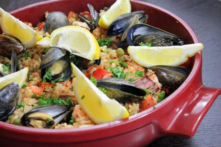 pilaf with seafood recipe