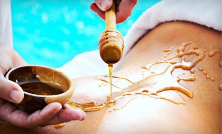 honey facial massage