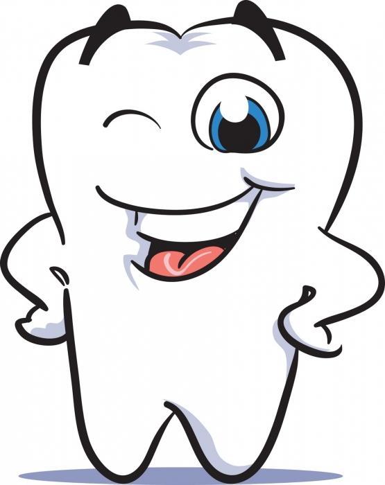 чистка зубов от камня.