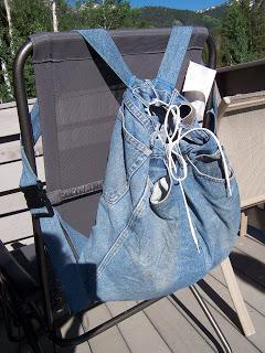 Рюкзак своими руками из пары старых джинс
