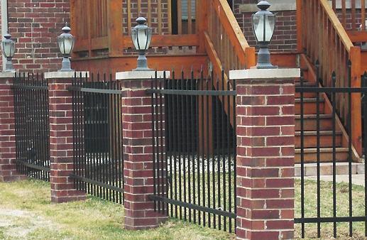 brick fences images
