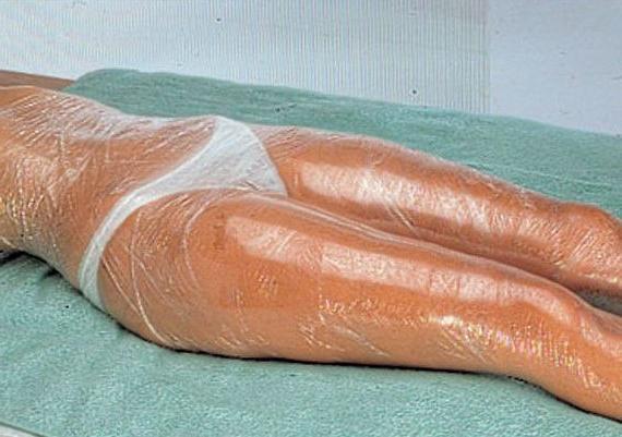 Обертывание глиной с пленкой