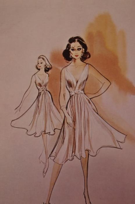 Как рисовать платья пошагово