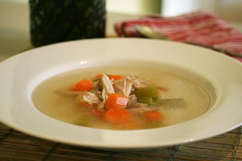 chicken soup in a slow cooker