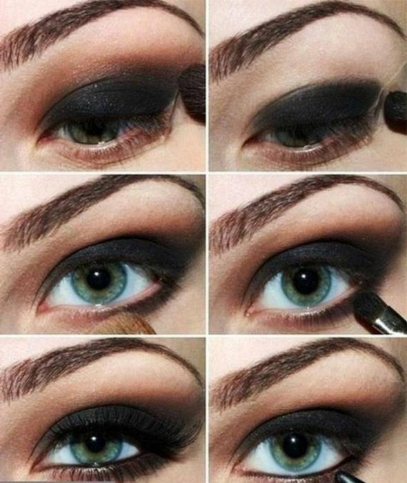 Как правильно красиво накрасить глаза