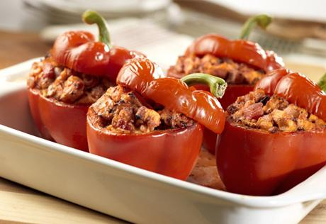 peppers stuffed with meat and rice