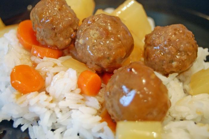 meatballs with rice recipe