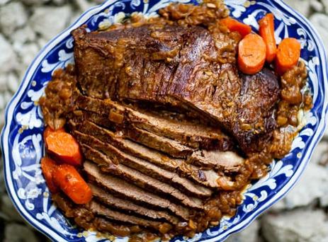 bake beef in the oven