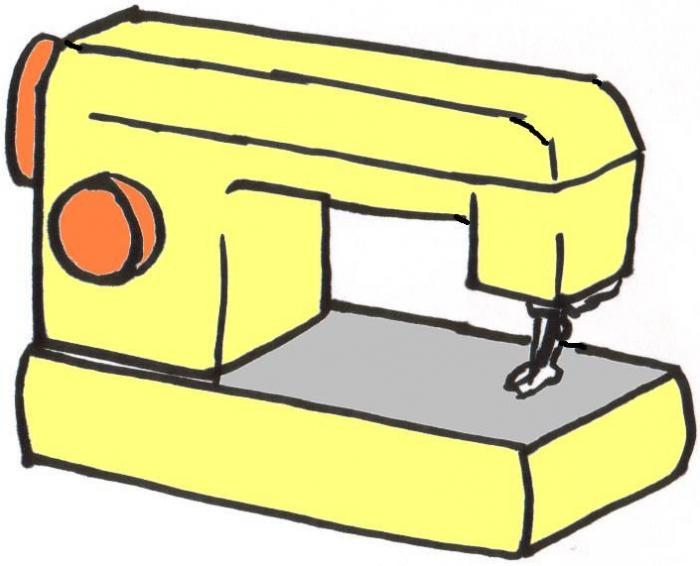 рисунок швейной машины карандашом парит
