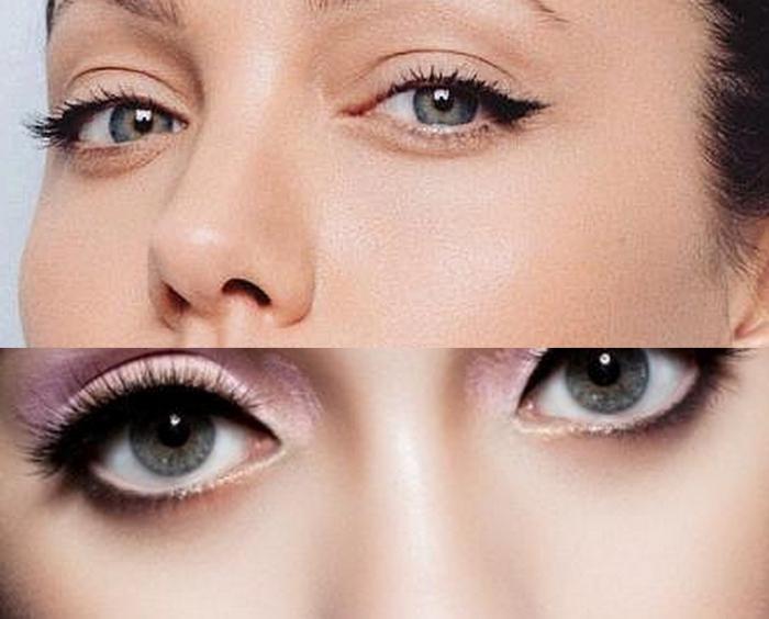 Как сделать макияж что глаза казались большими 8
