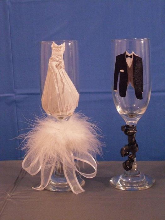 Украшение свадебного стола своими