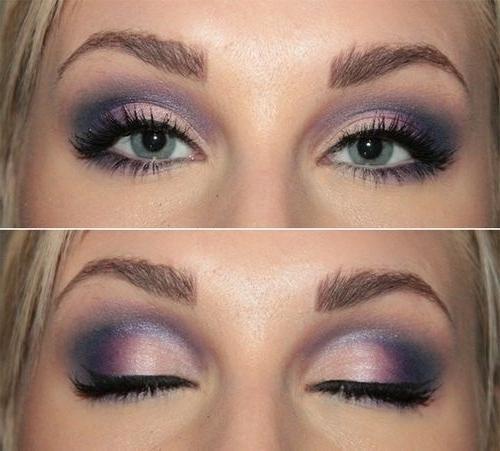 макияж на голубые глаза фото поэтапно