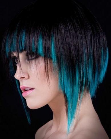 Покрашенные волосы в яркие цвета картинки - 6