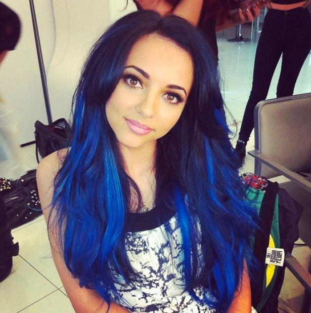 Синие волосы оригинальное решение