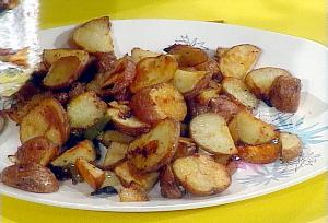 fried potatoes with minced meat