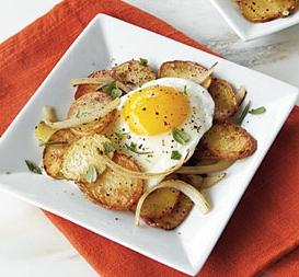 fried potatoes with egg