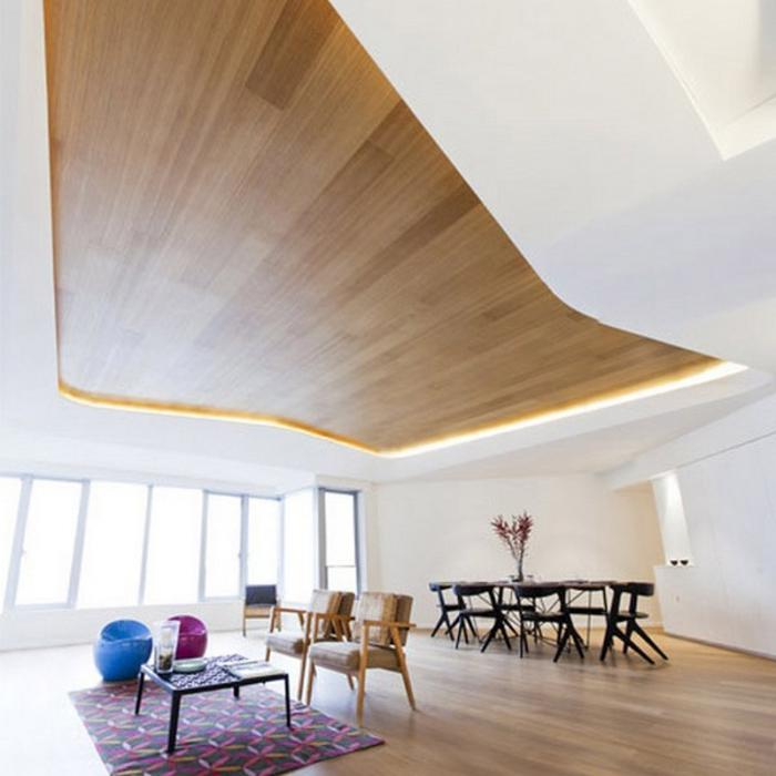 чем отделать потолок в деревянном доме
