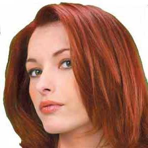 Терракотовый цвет фото волос