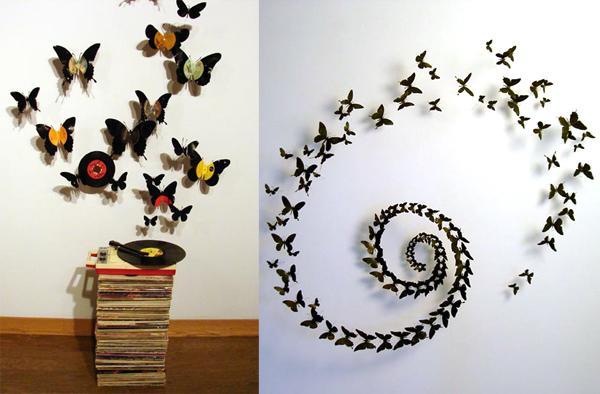 Фото бабочек на стену своими руками