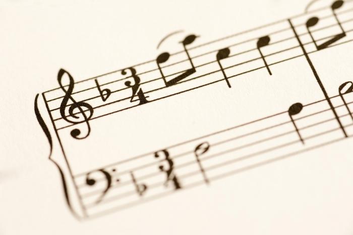Ноты басовый ключ.