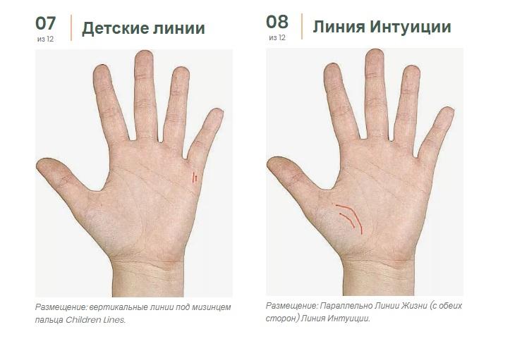 какие бывают линии интуиции фото отличие