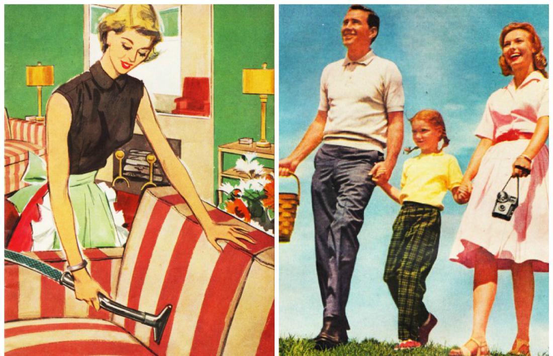 rich vs classic 50s wife