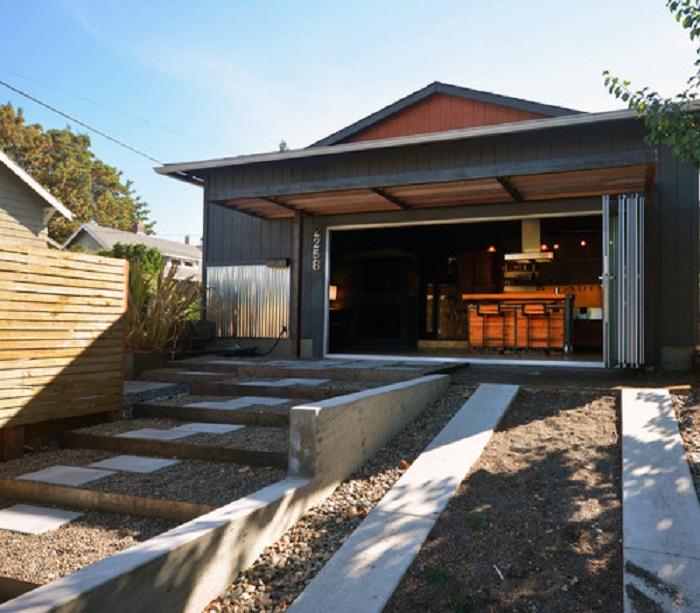 гараж для отдыха фото кухонные