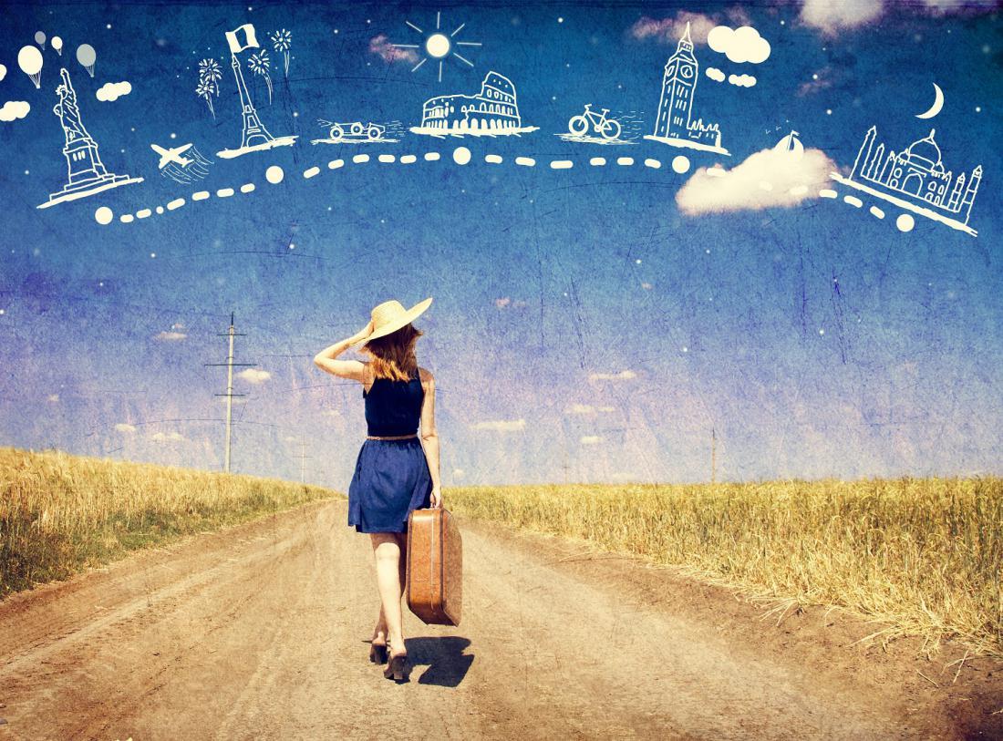 Картинка с надписью путешествие мечты