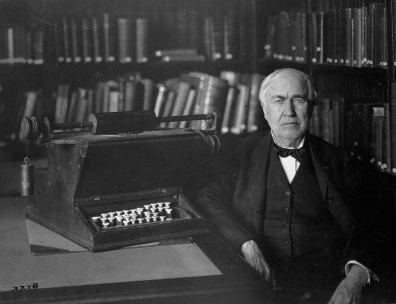 томас эдисон изобретения фото винил прочие искусственные