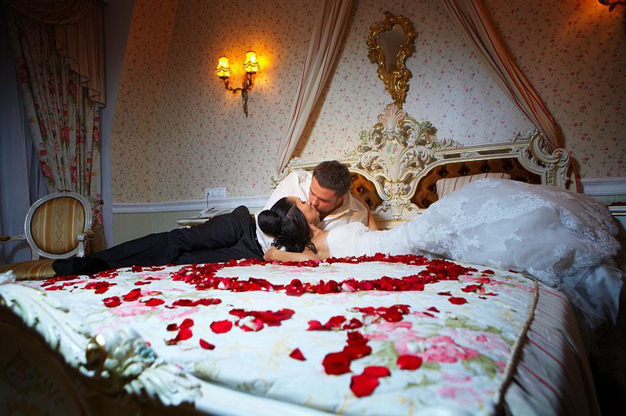 После свадьбы брачного ночью