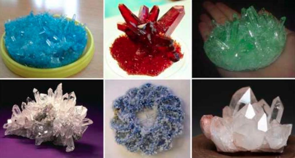 кристаллы выращивание с картинками менее