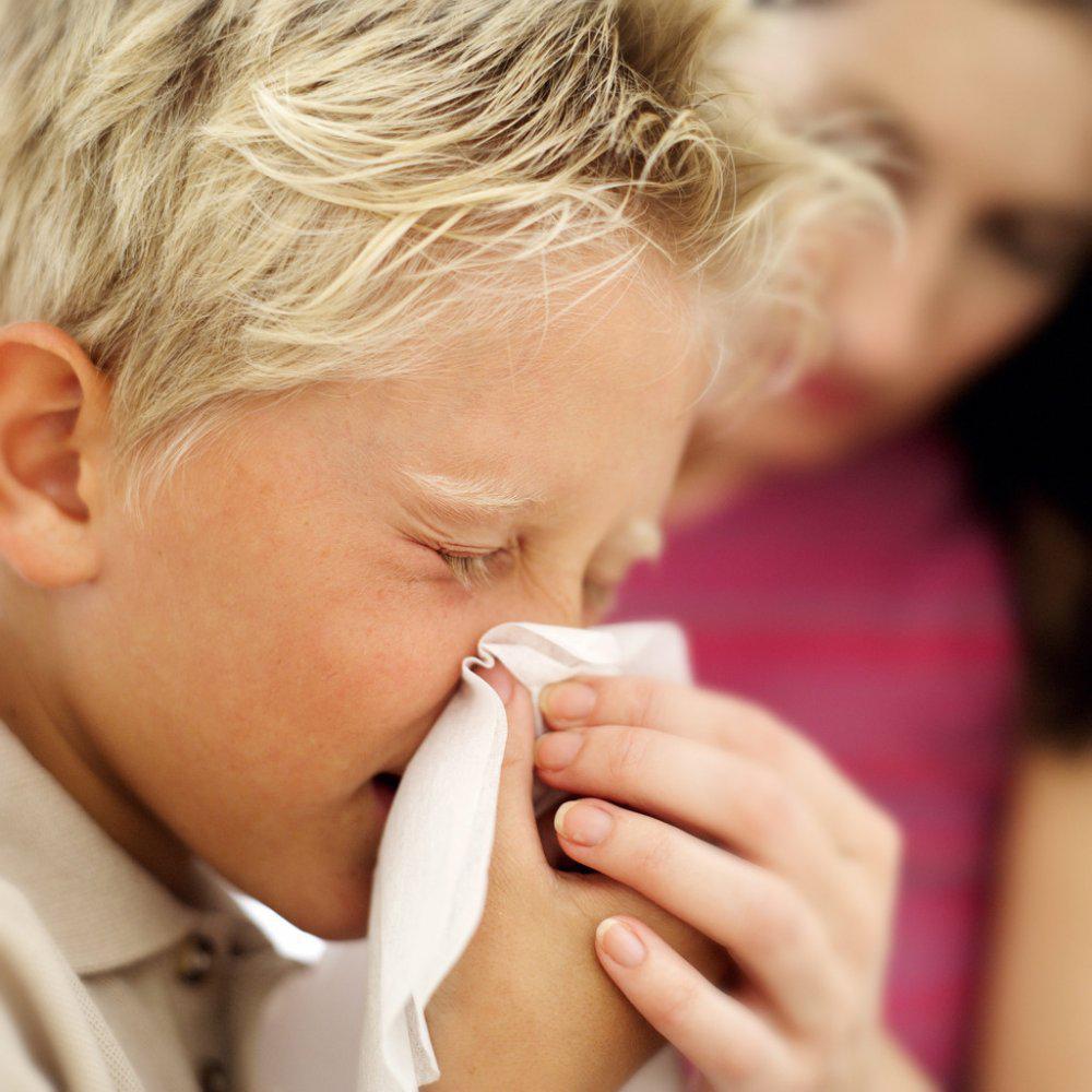 Больные гриппом дети фото