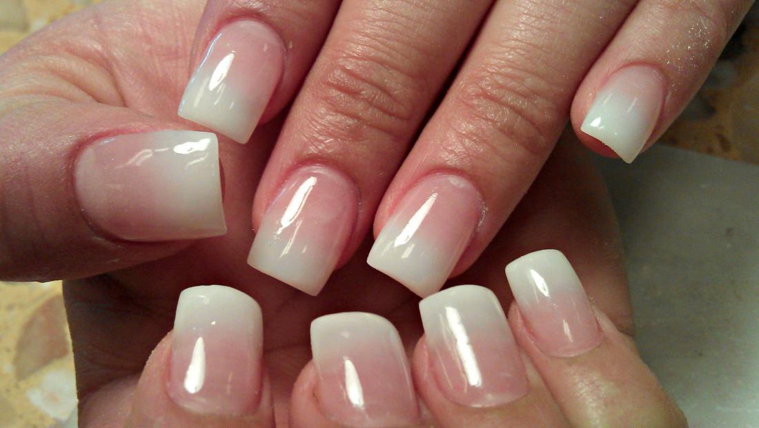 Дизайн ногтей на нарощенных ногтях новинки омбре