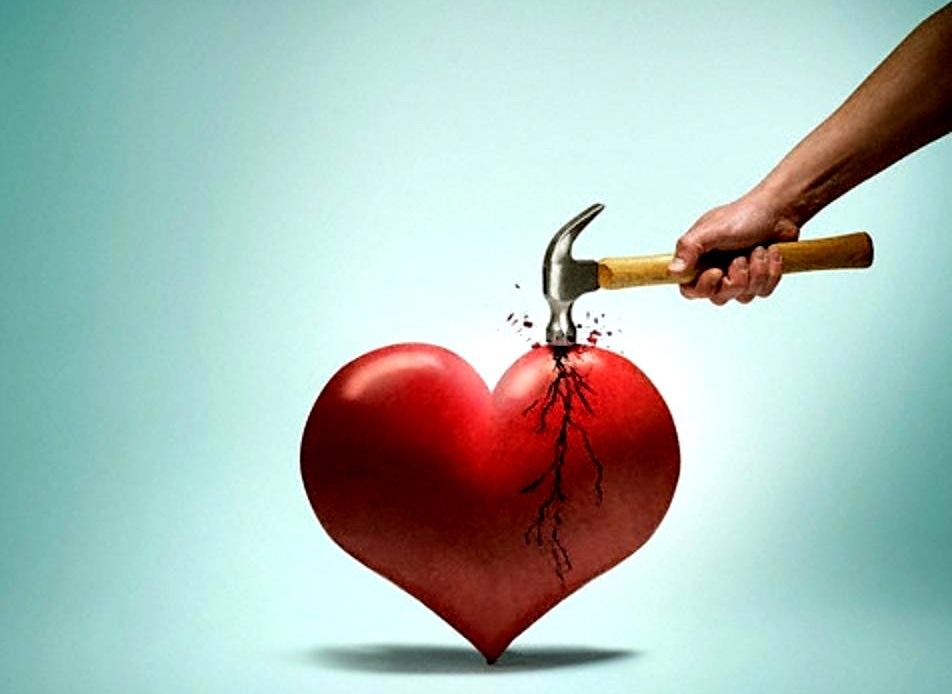 Осень, открытка о разбитом сердце