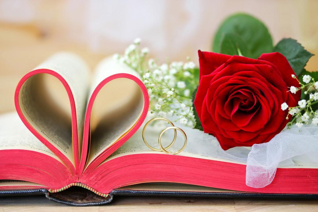 картинки с цветами в день свадьбы красной
