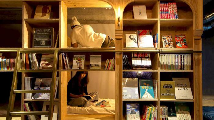 Хостел «Book and Bed», Токио, Япония