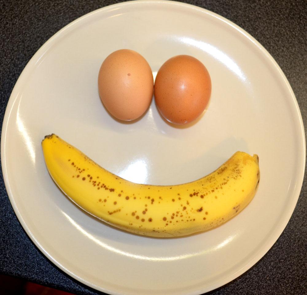 Яйцо и банан можно при диете
