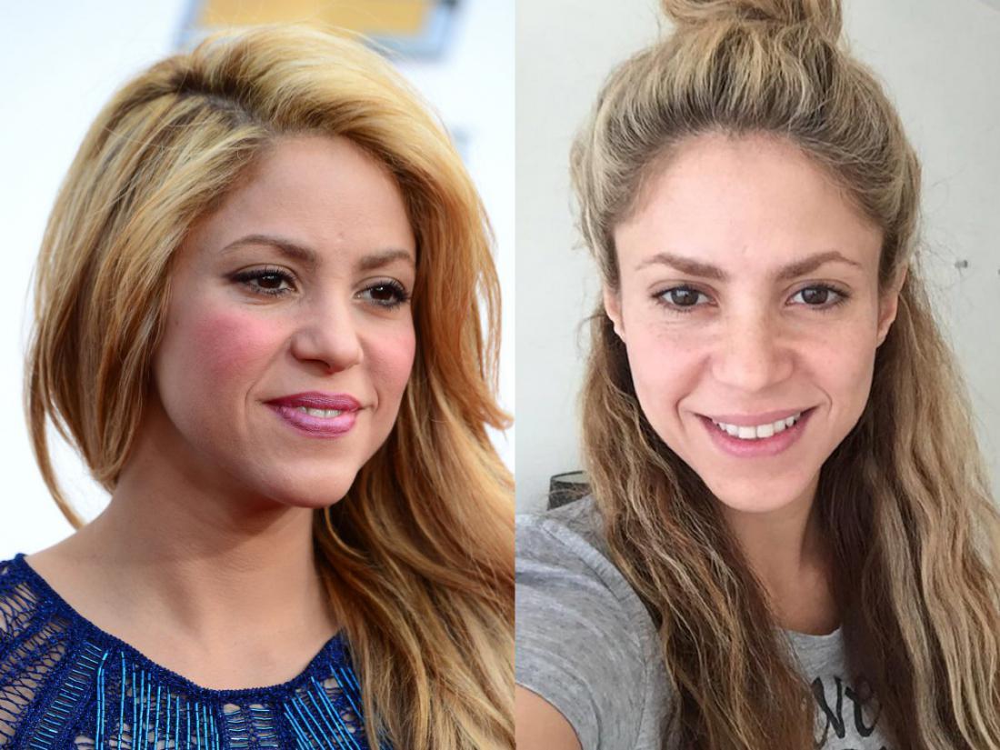 Фото знаменитостей с макияжем и без макияжа русские