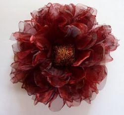 Цветы из органзы - напоминание о лете круглый год