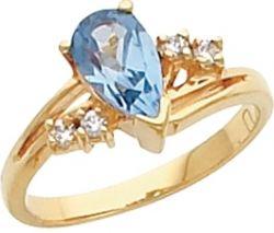 Кольцо  с топазом - изысканное украшение
