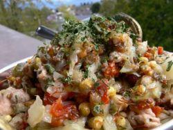 Оригинальный и простой рецепт салата из печени трески