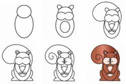 Как нарисовать белку: советы детям и взрослым