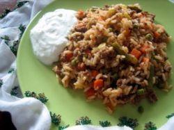 Рецепт плова из говядины и пропаренного риса