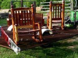 Кресло-качалка своими руками из дерева и ткани